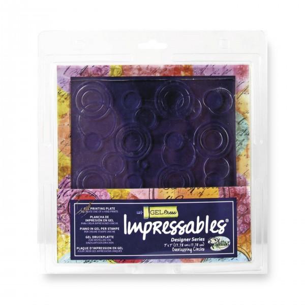 Gel Press Impressables, Überlappende Kreise, 17,78 x 17,78 cm