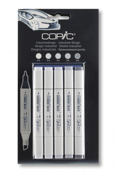 Copic Classic Grau-Set Industriedesign, 5 Stück