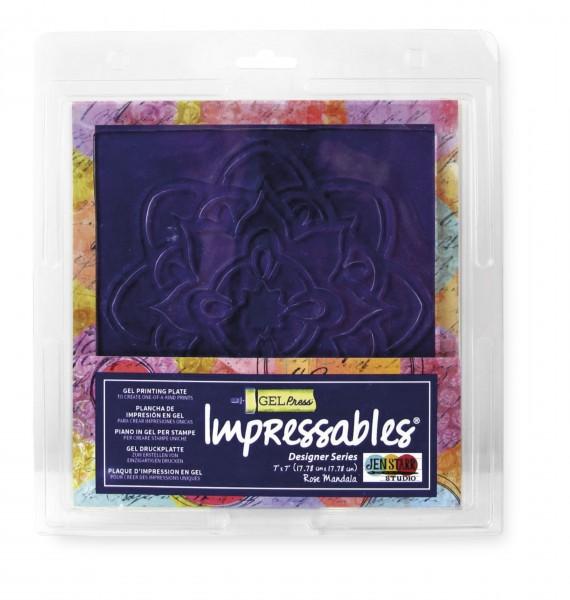 Gel Press Impressables, Rose Mandala, 17,78 x 17,78 cm