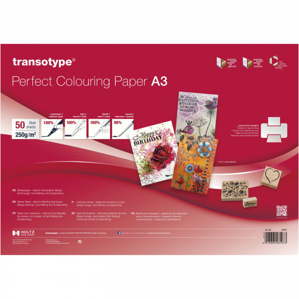 transotype Perfect Colouring Paper, 250 g/m²