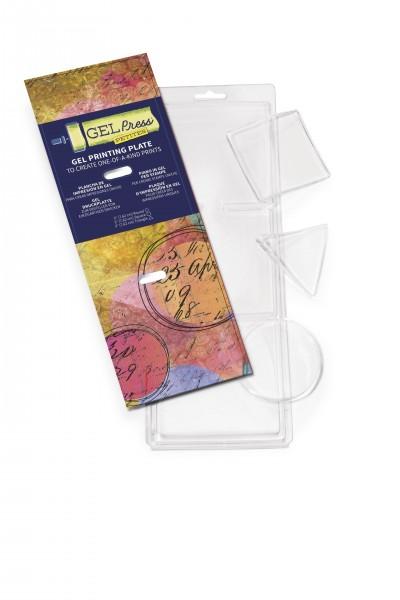 Gel Press- Druckplatte Kreis, Dreieck, Quadrat, Ø 5,08 cm, 3 Stück