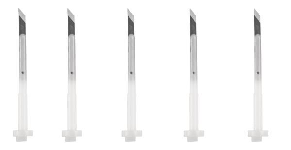Ersatzklingen Druckknopfmesser 45°, 5 Stück