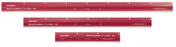 Aluminium-Schneidelineal PRO, rutschfest